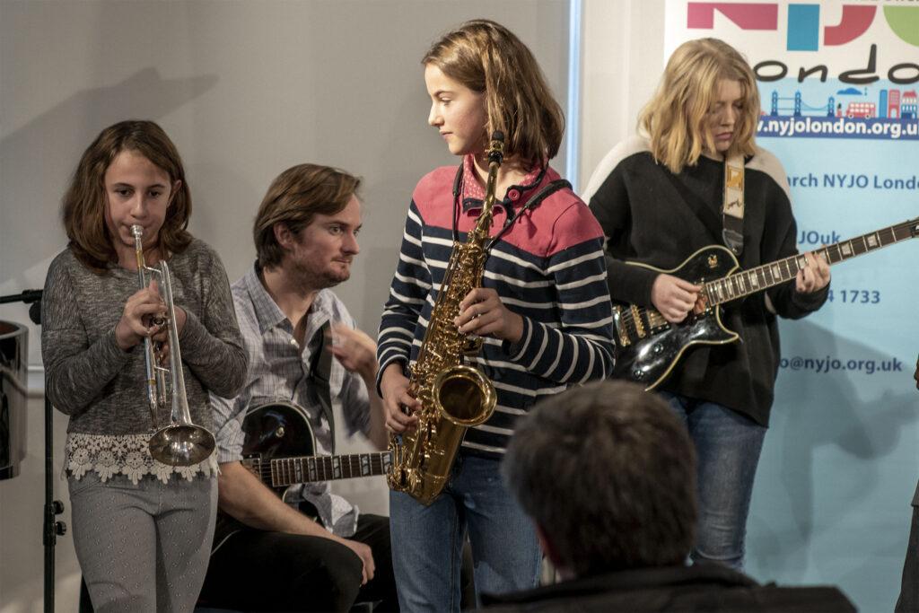 Ant Law at the NYJO jazz jam at Foyles