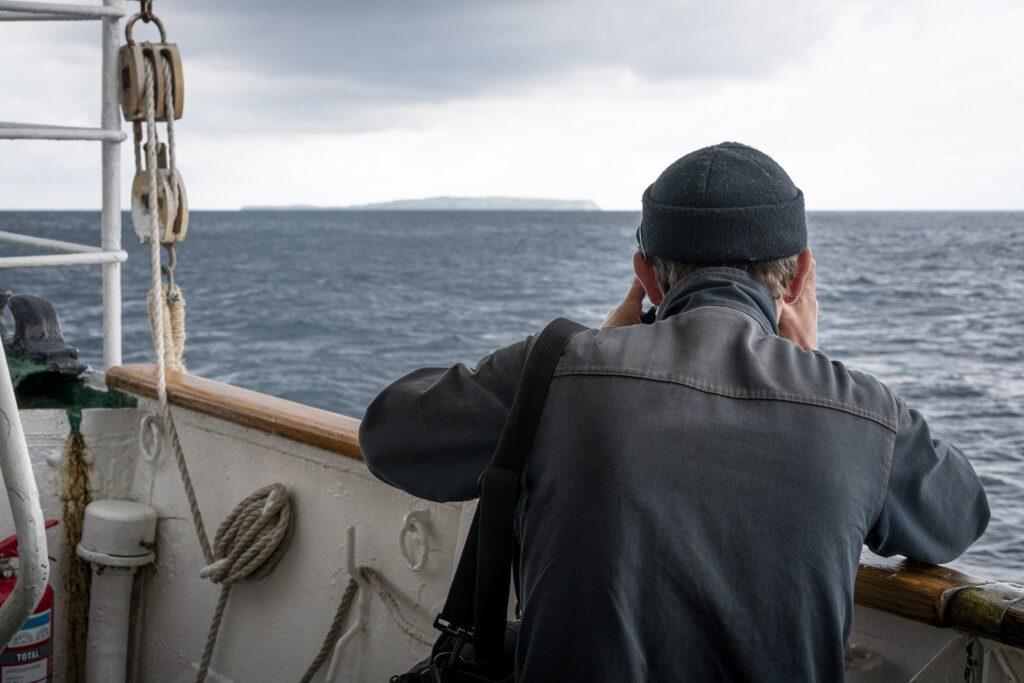 Charlie on boat to Susak