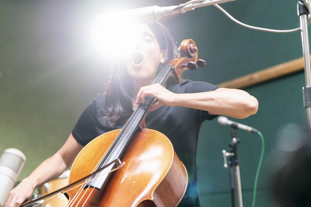 Sara Dowling Quartet recording at the Fish Factory